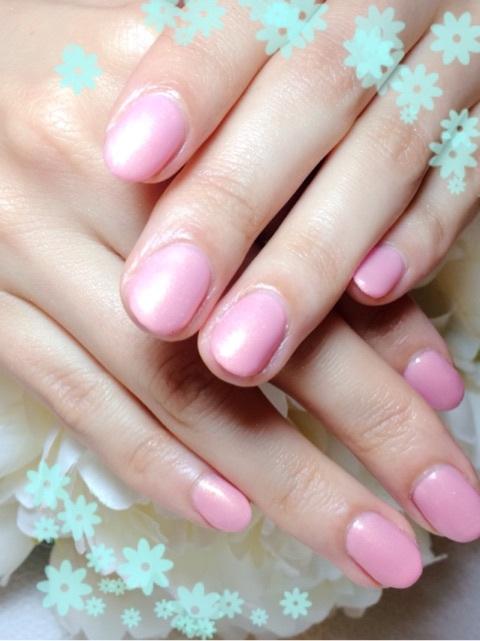 春ピンク ワンカラー〜芦屋 ネイルデザイン〜
